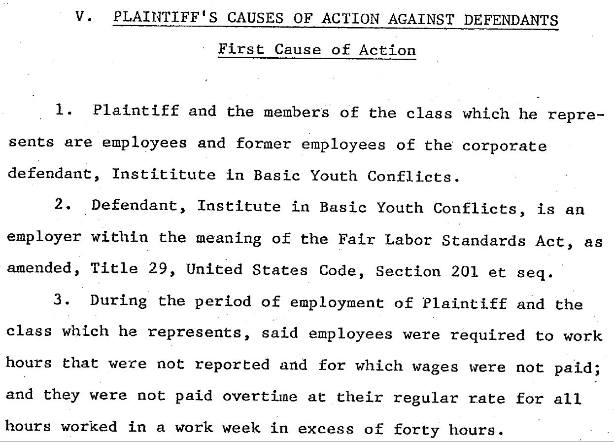 Labor Law Violations in 1980 Lawsuit